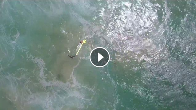 The world s first surf rescue by drone