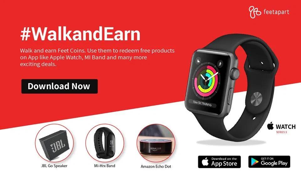 FeetApart App: Walk Daily & Earn Free Amazon Gift Voucher