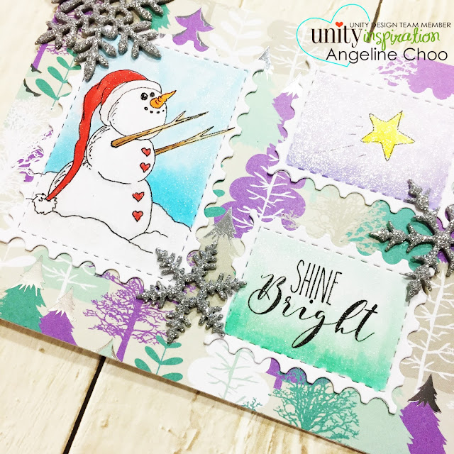 ScrappyScrappy: [NEW VIDEO] Winter and Fall cards with Unity Stamp #scrappyscrappy #unitystampco #winter #christmas #snowman #postagestampdie #snowflakedie #snowflake #winkofstella #glitter #copic  #youtube #quicktipvideo #processvideo