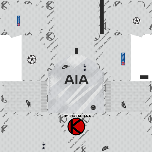 Tottenham Hotspur 2019 2020 Kit Dream League Soccer Kits Kuchalana