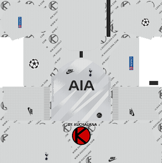 Tottenham Hotspur 2019/2020 champions league goalkeeper Kit - Dream League Soccer Kits