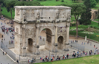 Arch of Constantine. Photo from 3rd Tier on Top Level of Colosseum