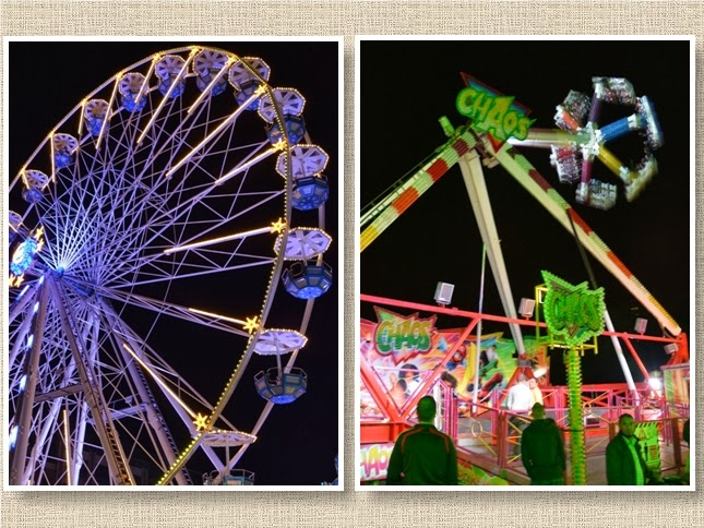 Carnival Fairs in the evening
