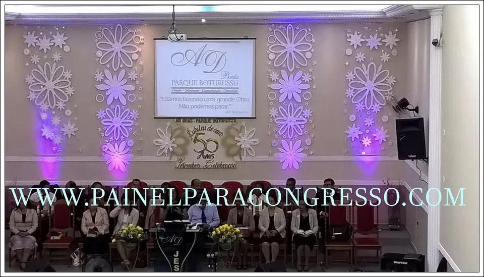 Painel flutuante - kit de flores em isopor para decoração de congresso e festividade