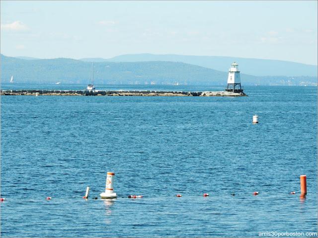 Lago Champlain en Burlington, Vermont