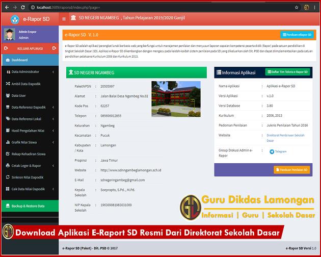 Download Aplikasi E-Raport SD Resmi Dari Direktorat Sekolah Dasar