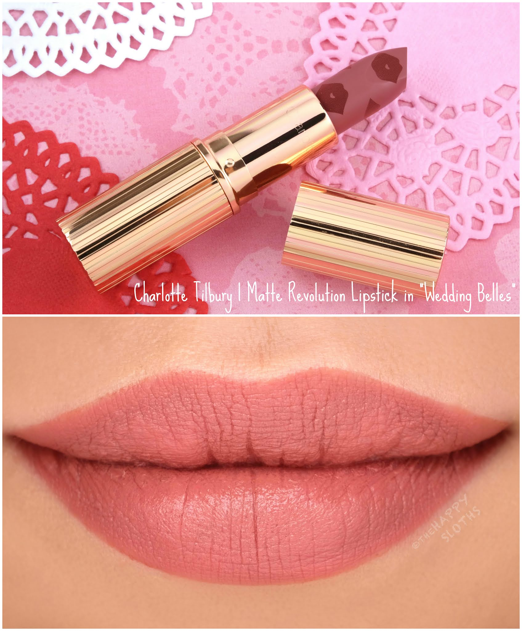 "Charlotte Tilbury | *NEW* Love Filter Matte Revolution Lipstick in ""Wedding Belles"": Review and Swatches"