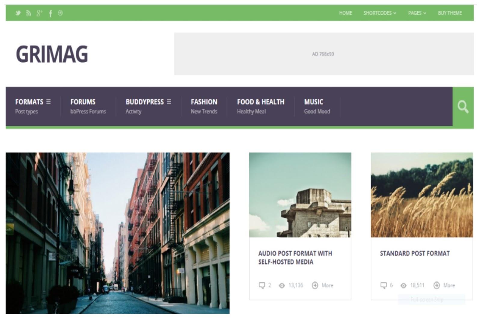 Grimag WordPress Theme