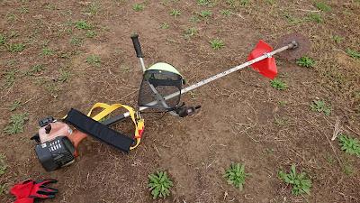 装備を追加した草刈り機