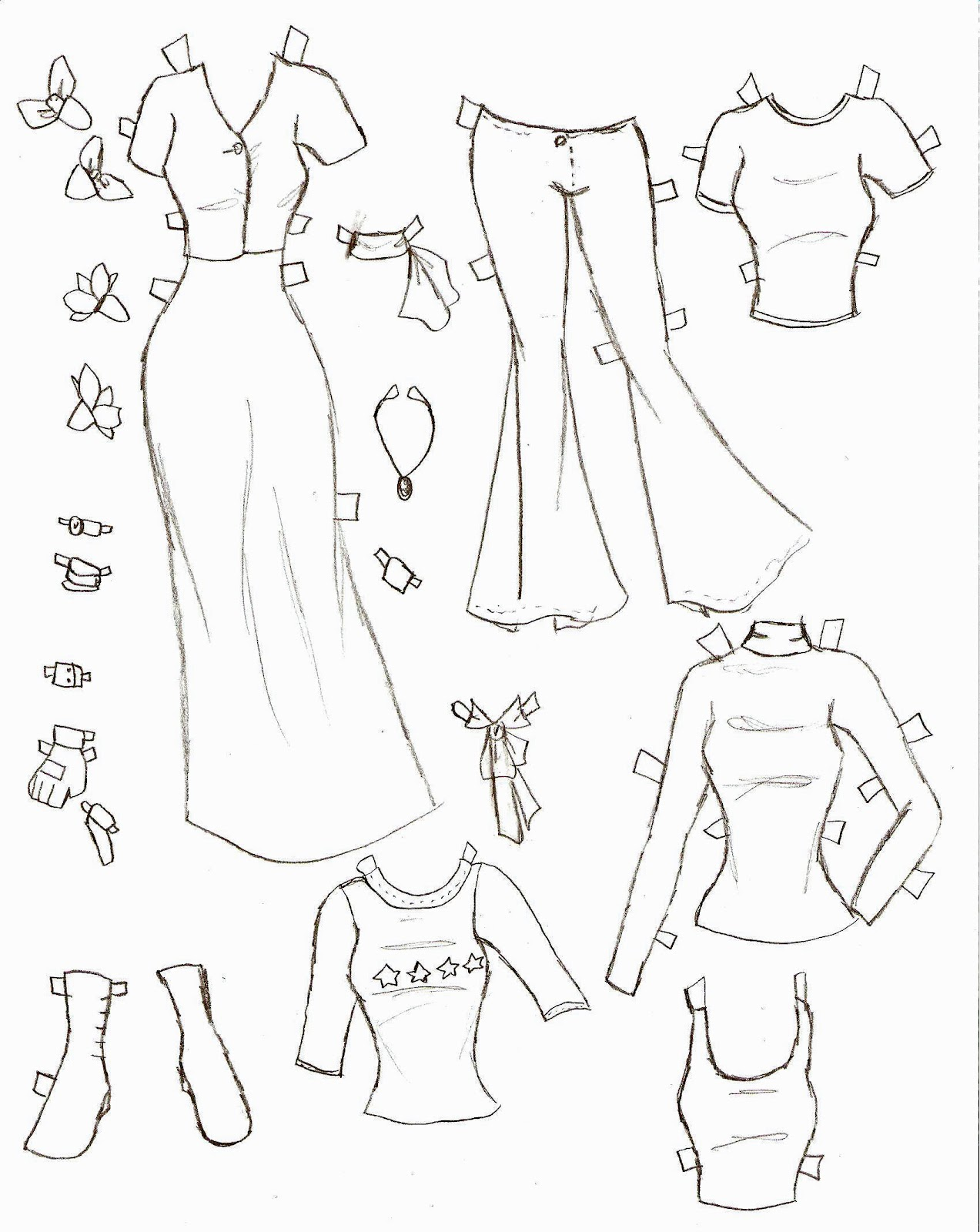 Miss Missy Paper Dolls: Lucy Clothes 2