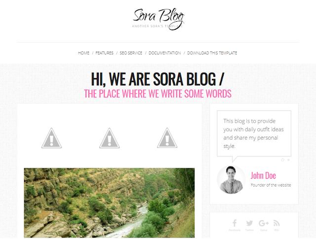 simple blogger templates 2021 Sora Blog