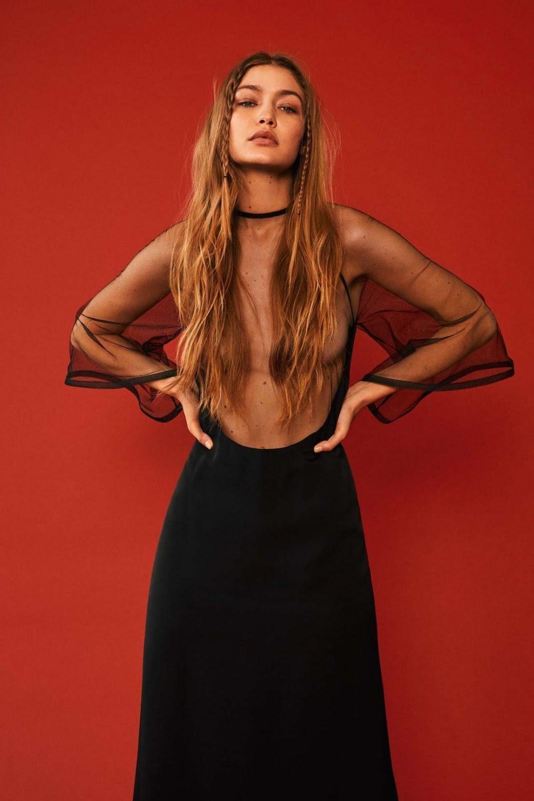 Gigi Hadid — Vogue Russia Magazine Feb 2020
