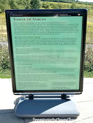 Tower of Voices at the Flight 93 National Memorial in Shanksville Pennsylvania