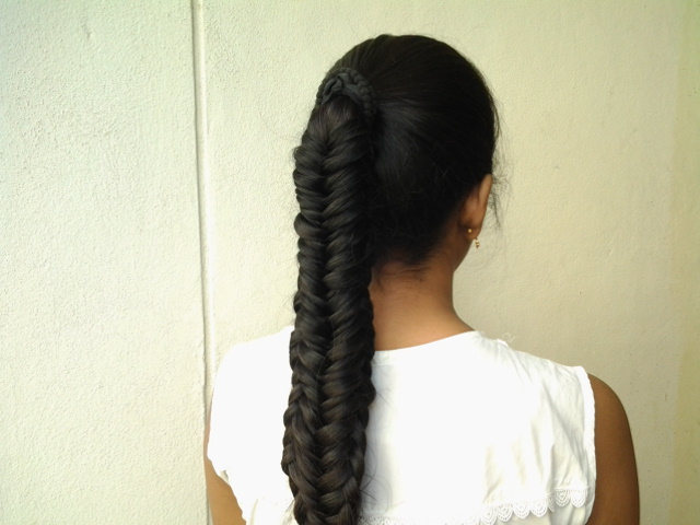 Twisted Edge Fishtail Braid Hairstyle Step By Step Tutoria L Back To