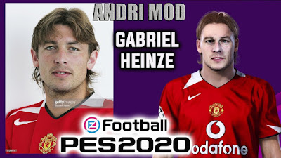 PES 2020 Faces Gabriel Heinze by Andri Mod