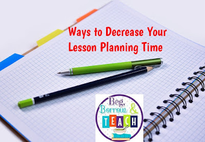 How to decrease your lesson planning time.
