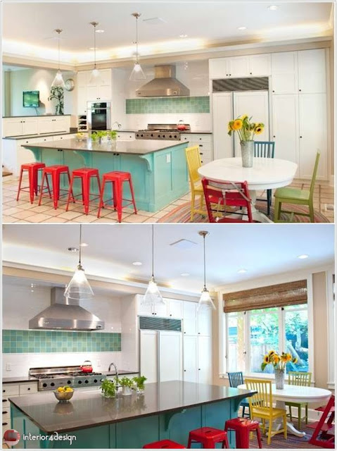 Colorful Kitchen Designs 4