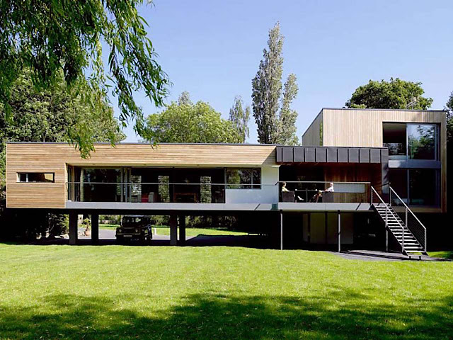 Inspirasi Desain Rumah Panggung Modern Yang Indah Sekali Arafuru