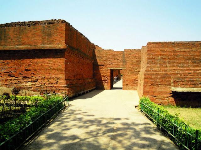 The entrance to Nalanda