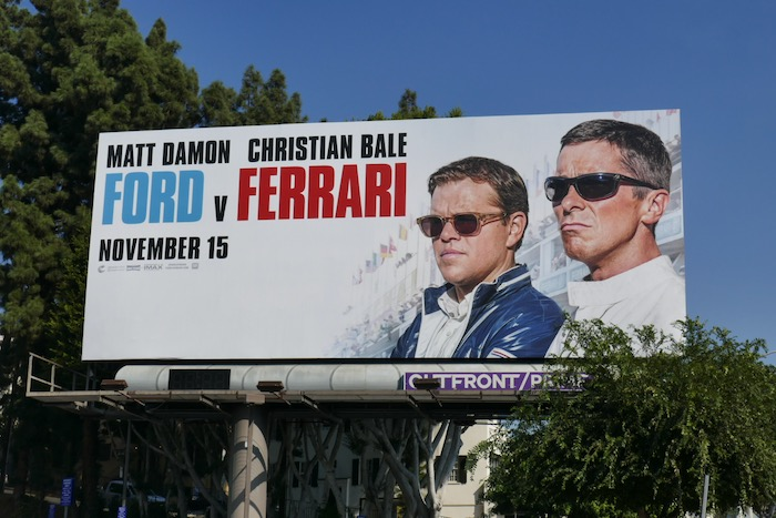 Ford v Ferrari film billboard