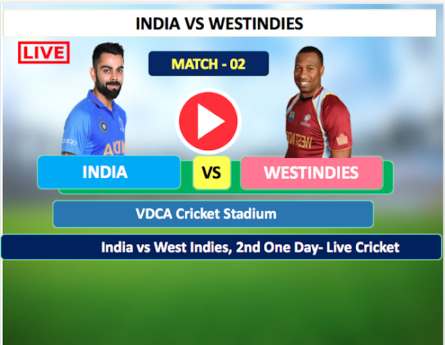 India vs WestIndies - 2nd One day  match, 18 December, India is batting first