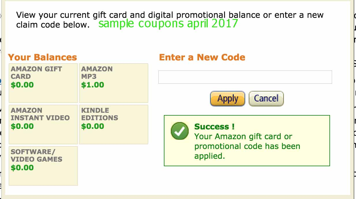 Amazon coupons free shipping codes 2018