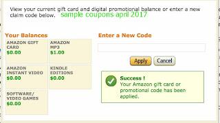 free Amazon coupons april 2017