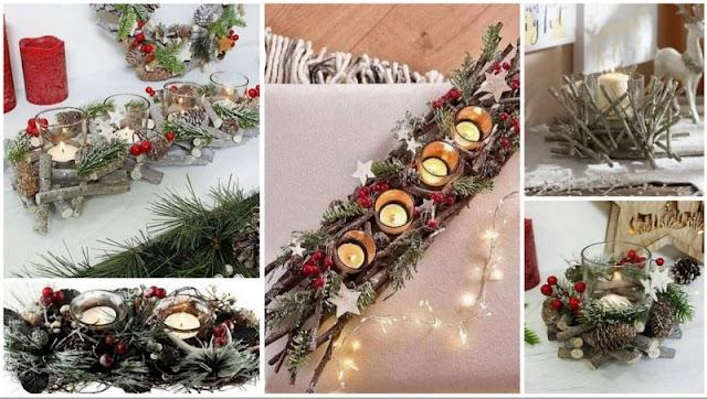 DIY Χριστουγεννιάτικα Κηροπήγια από Κλαδιά
