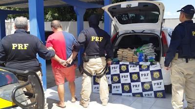 Fotógrafo com 45 quilos de cocaína é preso ao tentar entregar droga