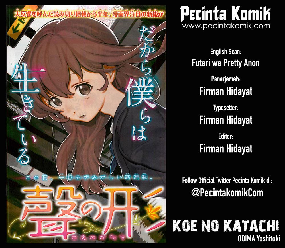 Koe no Katachi Chapter 18-1