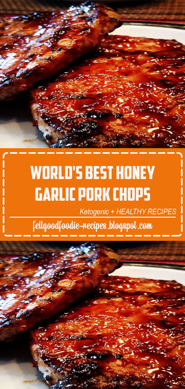 "World's Best Honey Garlic Pork Chops | ""How do you turn plain ol pork chops into something SPECIAL on a Sunday afternoon? You make THIS!! MY OH MY!"" #allrecipes#grilling #grillingrecipes #allrecipes"