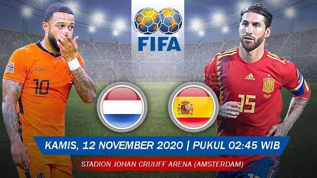 Prediksi Belanda Vs Spanyol, Kamis 12 November 2020 Pukul 02.45 WIB @ Mola TV