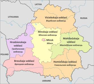 Outline Map of Belarus