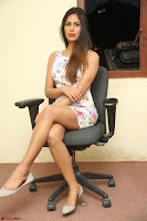 Nishi Ganda stunning cute in Flower Print short dress at Tick Tack Movie Press Meet March 2017 268.JPG