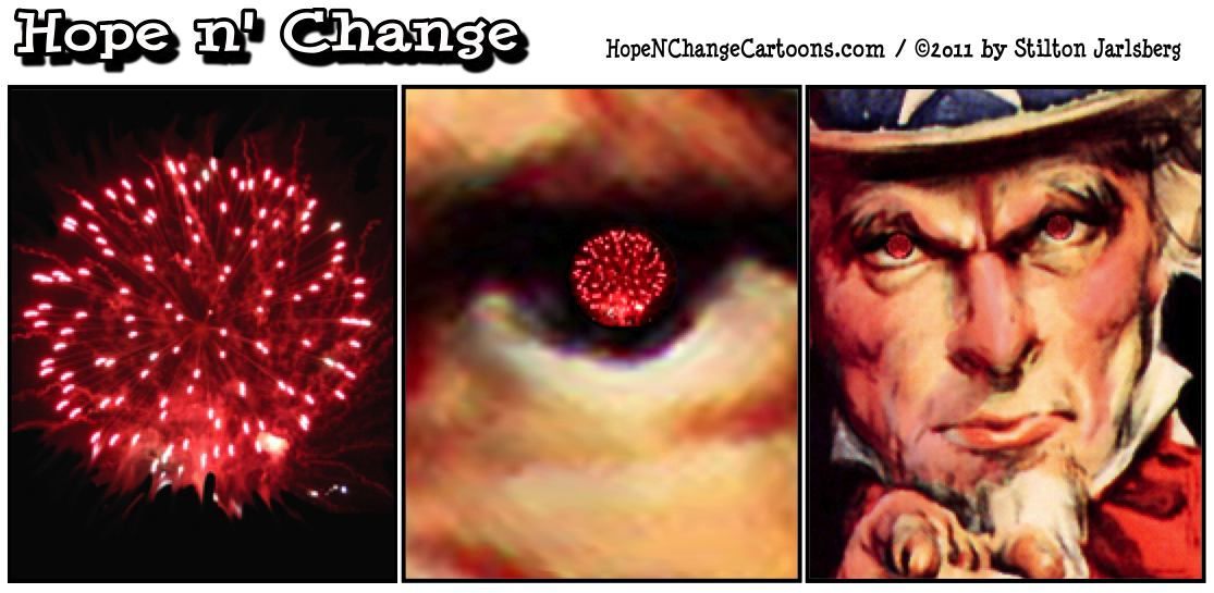 On the 4th of July in 2011, the rockets red glare reminds us of the end of NASA, Obama's one man war in Libya Iran testing nuke missiles, and oceans of red ink, hope and change, hopenchange, stilton jarlsberg