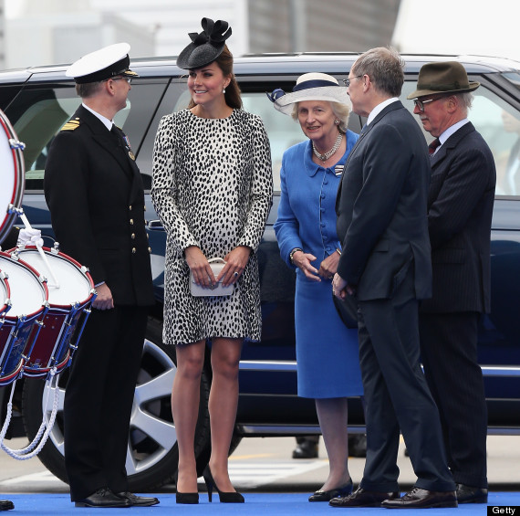 Kate Middleton Stands Out In Animal Print