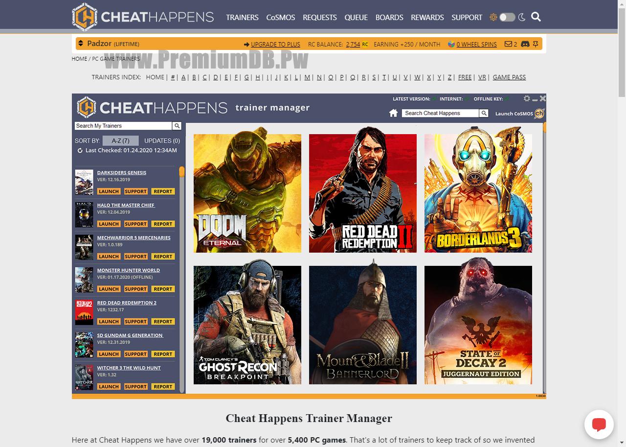 x5 Cheathappens.com Premium Accounts With Balance April 05, 2020