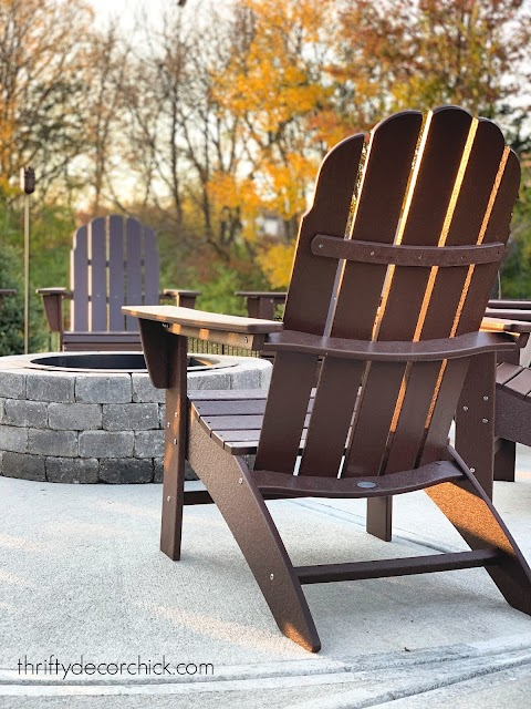Curved Vineyard Adirondack chairs
