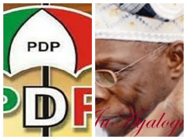 Our party is the only way out - PDP reject's Obasanjo call for a new coalition for Nigeria movement