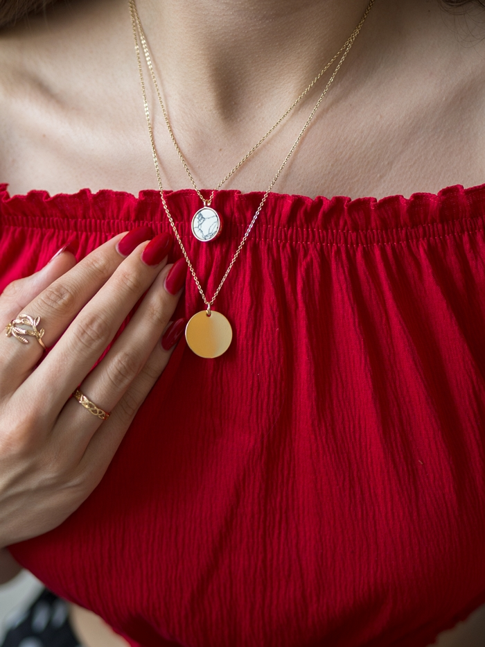 biżuteria z marmurem