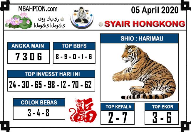 Prediksi HK Malam Ini Minggu 05 April 2020 - Syair Mbah Pion