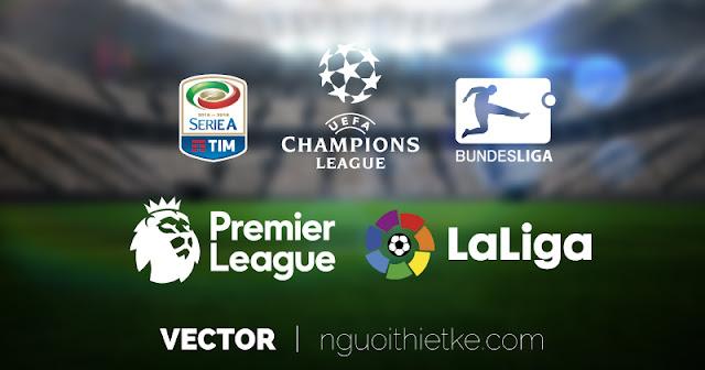 Logo vector Ai, corel: Ngoại hạng Anh, Cup C1, Busdesliga, La liga,Serie A