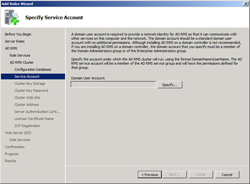 Managed Service: Create Managed Service Account Server 2012