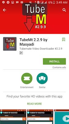 Download video youtube di android dengan TubeMate by Masyadi