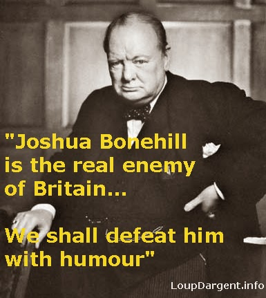 """Quote"" from Winston Churchill re: Joshua Bonehill"