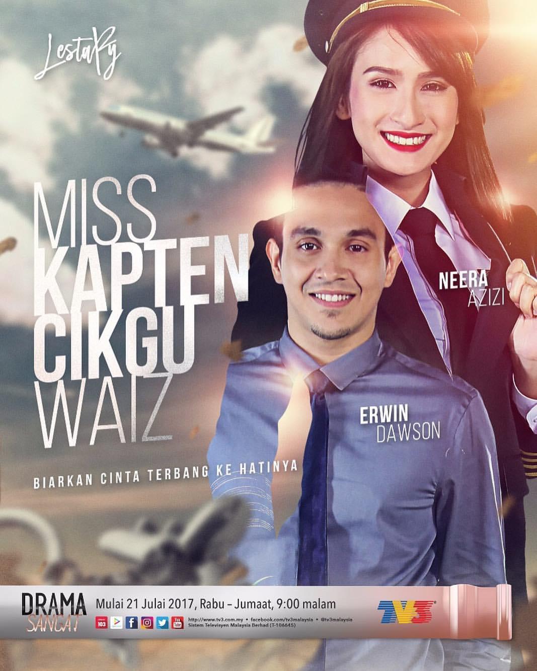 Miss Kapten Cikgu Waiz Lakonan Neera Azizi Dan Erwin Dawson