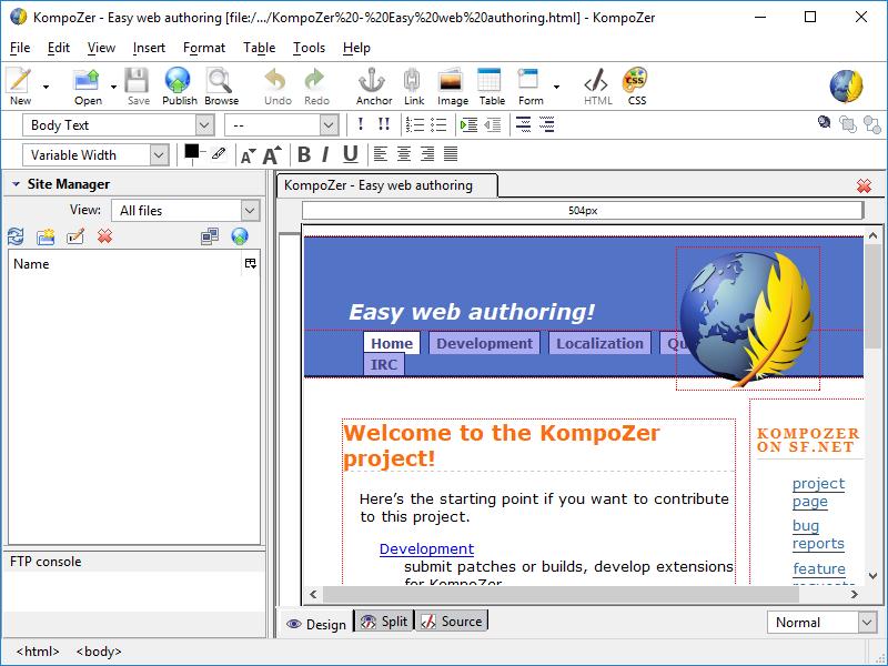 Aplikasi Portabel Untuk Ngeblog : KompoZer