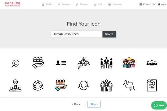 Choose an icon for your logo