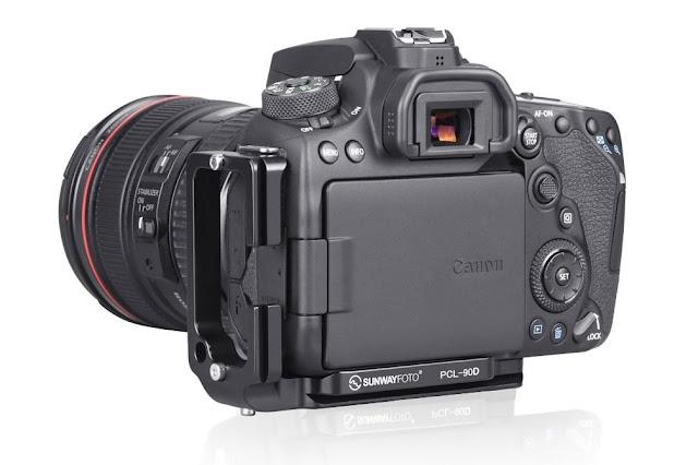 Sunwayfoto PCL-90D L Bracket on Canon EOS 90D