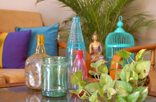 DIY how to tint glass jars and bottles